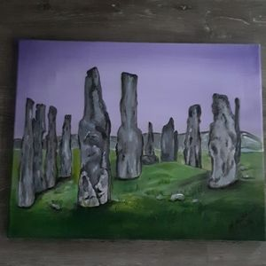 Standing stones painting